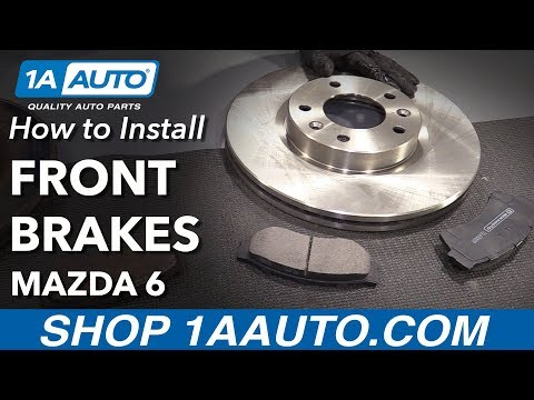 How to Install Front Brake Pads Rotors 2006-07 Mazda 6
