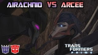 Transformers Prime: The Game - Arcee Vs. Airachnid