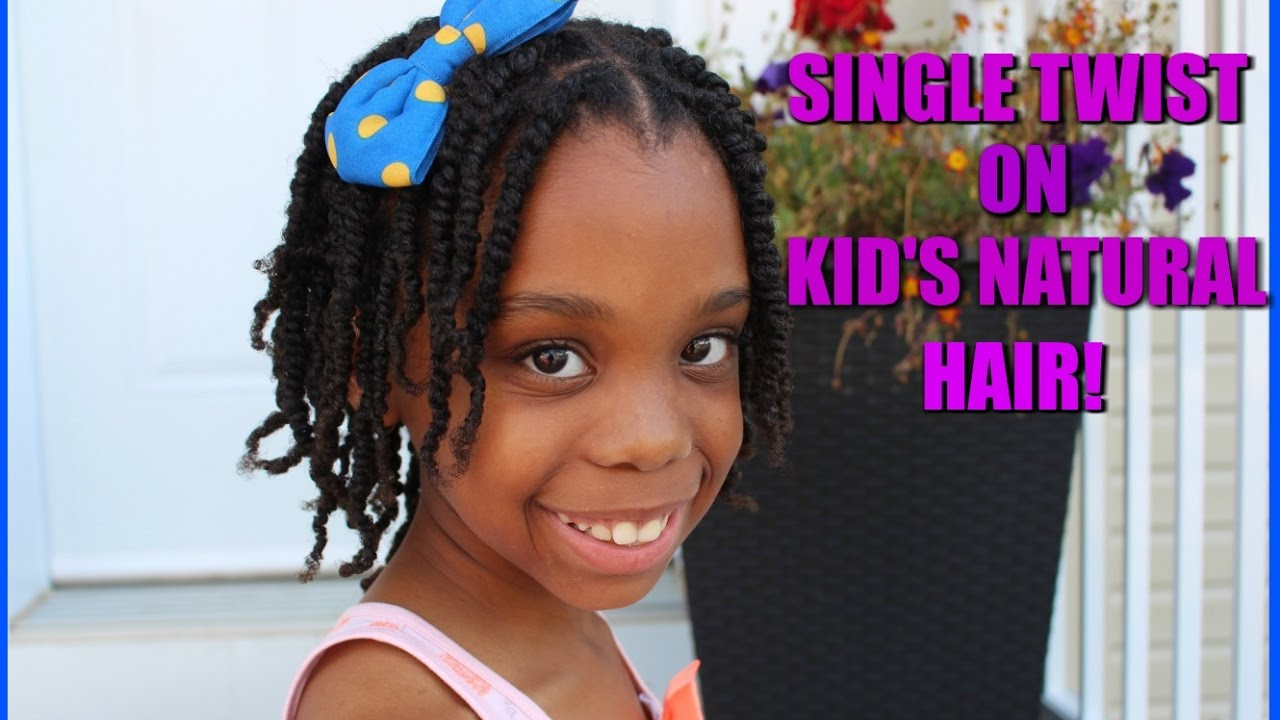 Easy Natural Hairstyles For Kids Single Twist Little Black Girls