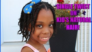 Easy Natural hairstyles for kids   Single Twist little black girls hairstyles
