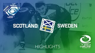 HIGHLIGHTS: Scotland v Sweden - Men round-robin - World Junior Curling Championships 2018