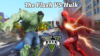GTA 5 PC - The Flash VS Hulk ! | The Man Who Saved Los Santos (Epic Mod Gameplay)