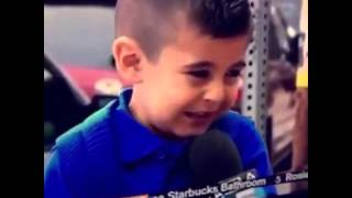 Reporter makes boy cry vine