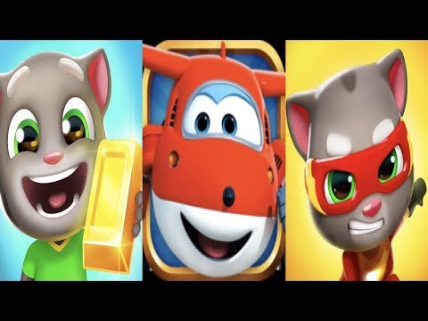 IGameBox🚠SUPER WING Jett Run⎮Talking Tom Gold Run│Tom Hero Dash Run*Gameplay For Kid#24