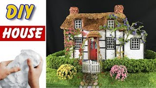DIY A stunning thatched house with beautiful garden