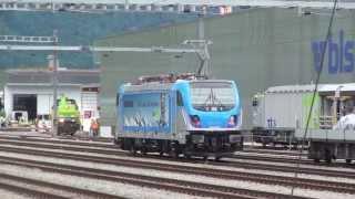 """Bombardier Br 187 """"002"""" TRAXX 3 in Frutigen [30.06.13]"""