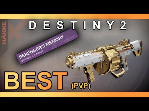 The BEST Grenade Launcher(PvP) in Destiny 2? (Berengers Memory) TROLL LAUNCHER