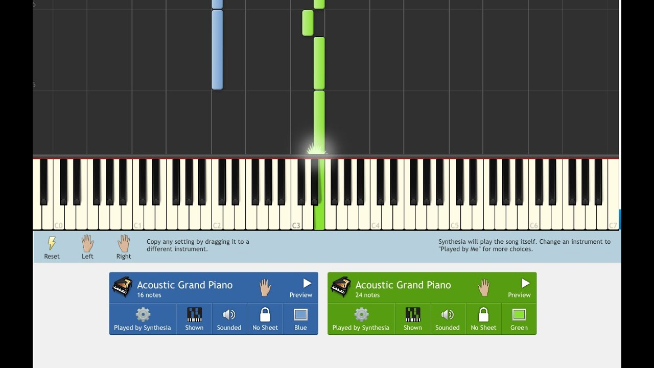 Synthesia - How to Create Different Colors for Falling Notes