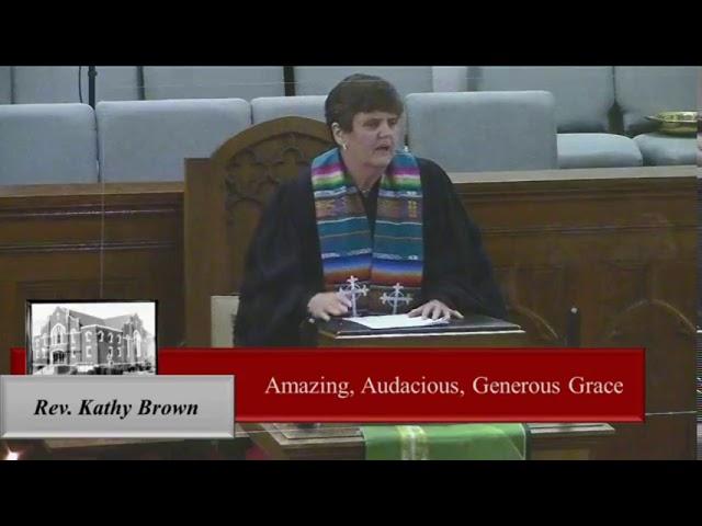 Amazing, Audacious, Generous Grace