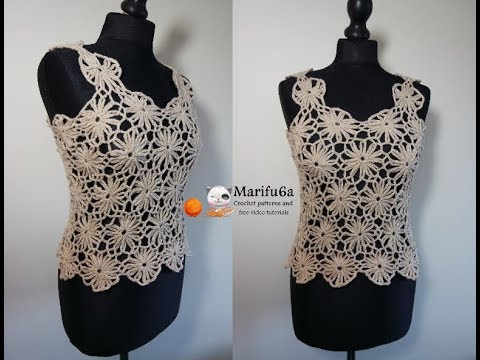 How To Crochet Easy Summer Top All Sizes Pattern Tutorial Youtube