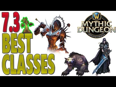 7.3 & 7.3.2 BEST CLASSES (Tanks | Healers | DPS) RANKINGS - Mythic Dungeon Invitational (MDI)