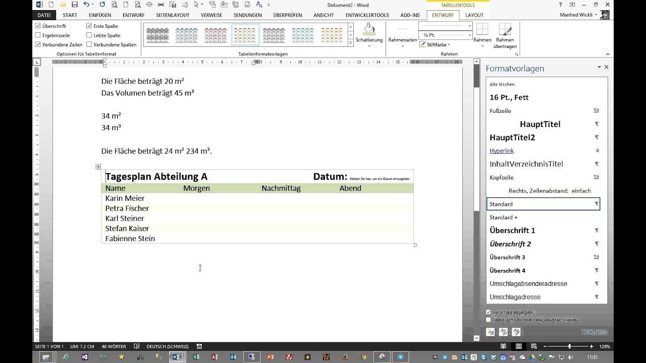 Schnellbausteine in Word verwenden und erstellen - YouTube