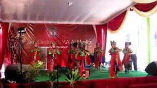 Antha, Peresmian Gedung SMA Al Muslim, Tari Remo, Al Muslim Sidoarjo