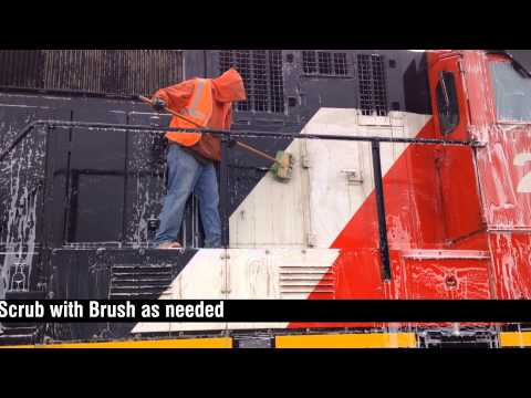 Cleaning Locomotives with DuBois Chemicals