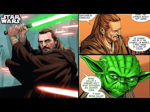 Qui-Gon CALLS OUT THE WHOLE JEDI COUNCIL to Yoda (CANON) - Star Wars Comics Explained