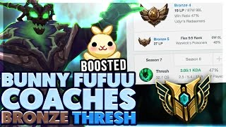 HOW TO CLIMB OUT OF ELO HELL | COACHING A BRONZE 4 THRESH MAIN | THRESH SUPPORT | BunnyFuFuu