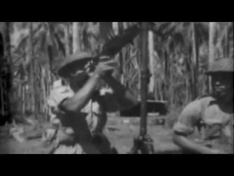 Fijian Scouts & Battle Damage, Vella Lavella, Solomons, 10/29/1943 (full)