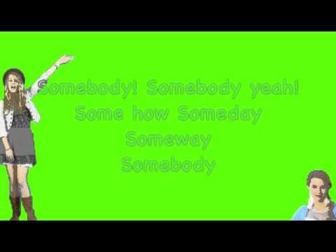 Bridget Mendler-Somebody (Lyrics) Lemonade Mouth