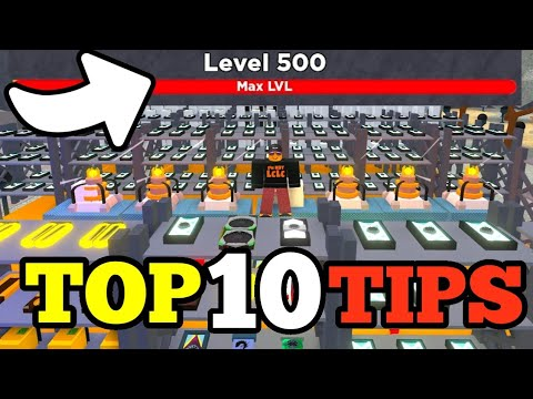 TOP 10 TIPS & TRICKS in Bitcoin Miner ROBLOX - MAX LEVEL 500