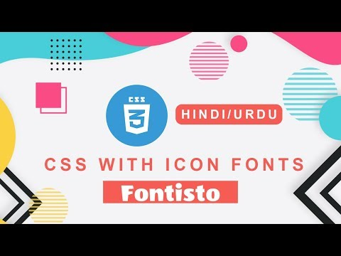 CSS Font Icons Tips & TRICKS | CSS with Font Icons (FONTISTO) Tutorial in HINDI/URDU thumbnail