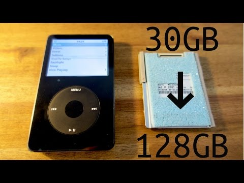 iPod Video 128GB SD card upgrade