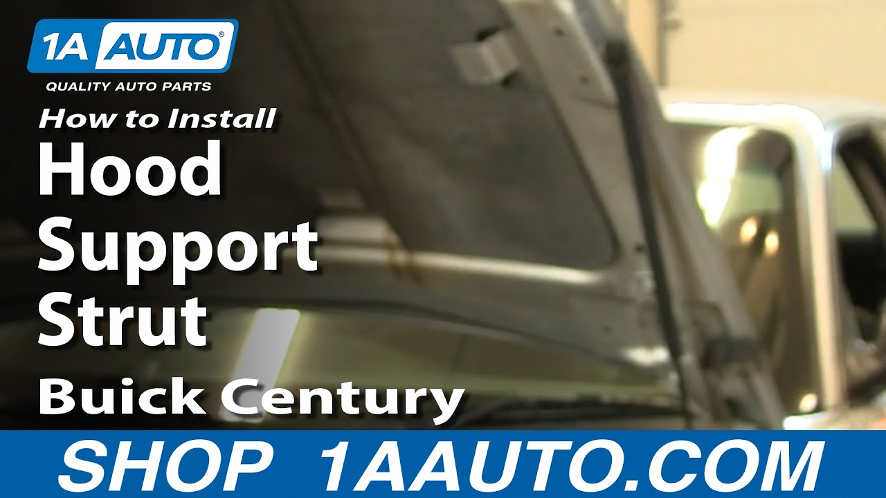 How To Replace Hood Lift Support 97 05 Buick Century Youtube