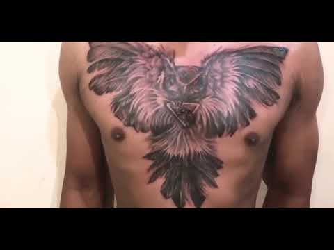 Wow Tattoo Burung Hantu Di Dada Amazing Youtube