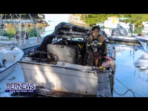Boat Catches On Fire At Burchall's Cove, Dec 2 2013