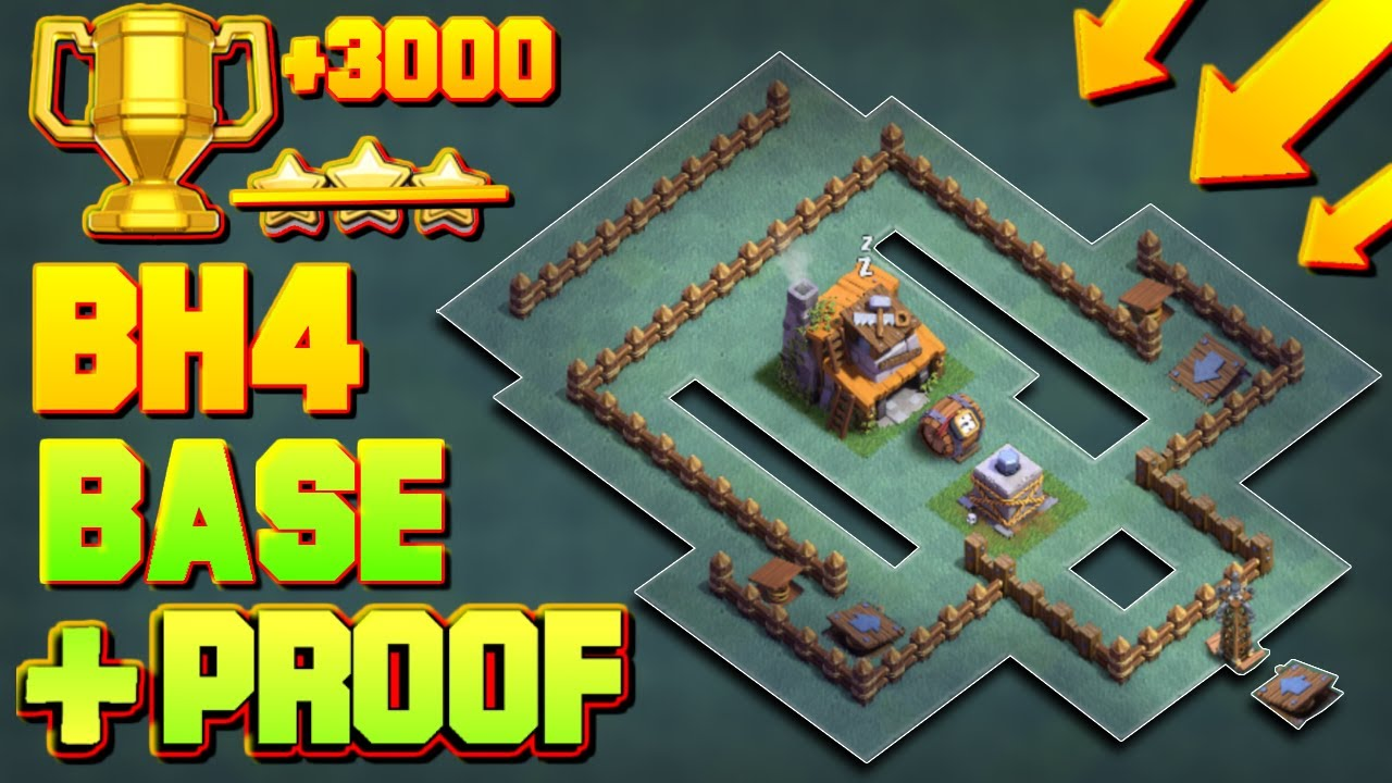 Best builder hall 4 base with proof 3000 cups coc bh4 Best builder house 4 base