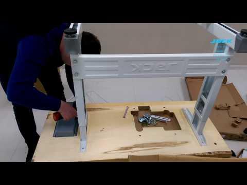 JACK JK-798 Instalation and assembly overlock sewing machine. Сборка и установка оверлока
