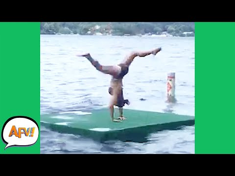 Handstand on the Lake? What Could Go WRONG?! 😂 | Best Funny Summer Fails | AFV 2021
