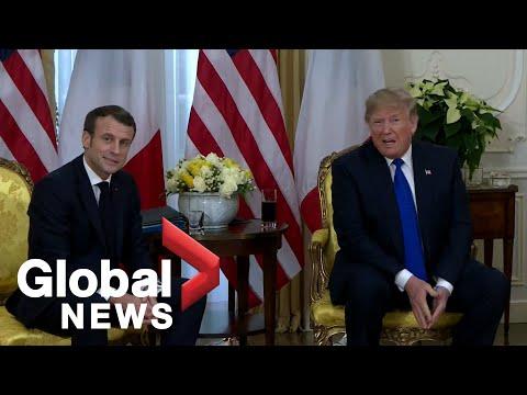 NATO Summit: Trump, Macron clash on NATO spending, Kurds during bilateral meeting | FULL