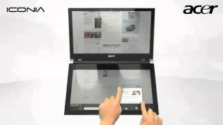 Acer Iconia Dual Display Touchbook.flv