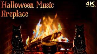 Halloween Music Instrumental Fireplace  Halloween Ambience Background  Spooky Music