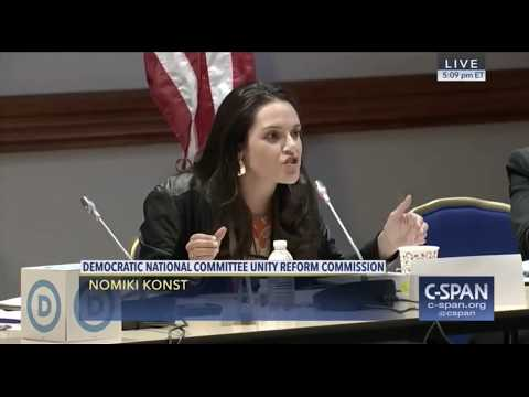 Nomiki Konst spitting fire on the DNC Unity Reform commission, her efforts were victorious