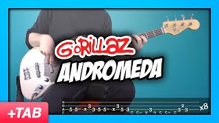 Gorillaz - Andromeda | Bass Cover with Play Along Tabs