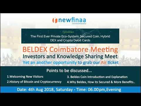 Single Investment With Profit - Beldex Coimbatore Meet - Investors Meet In Coimbatore