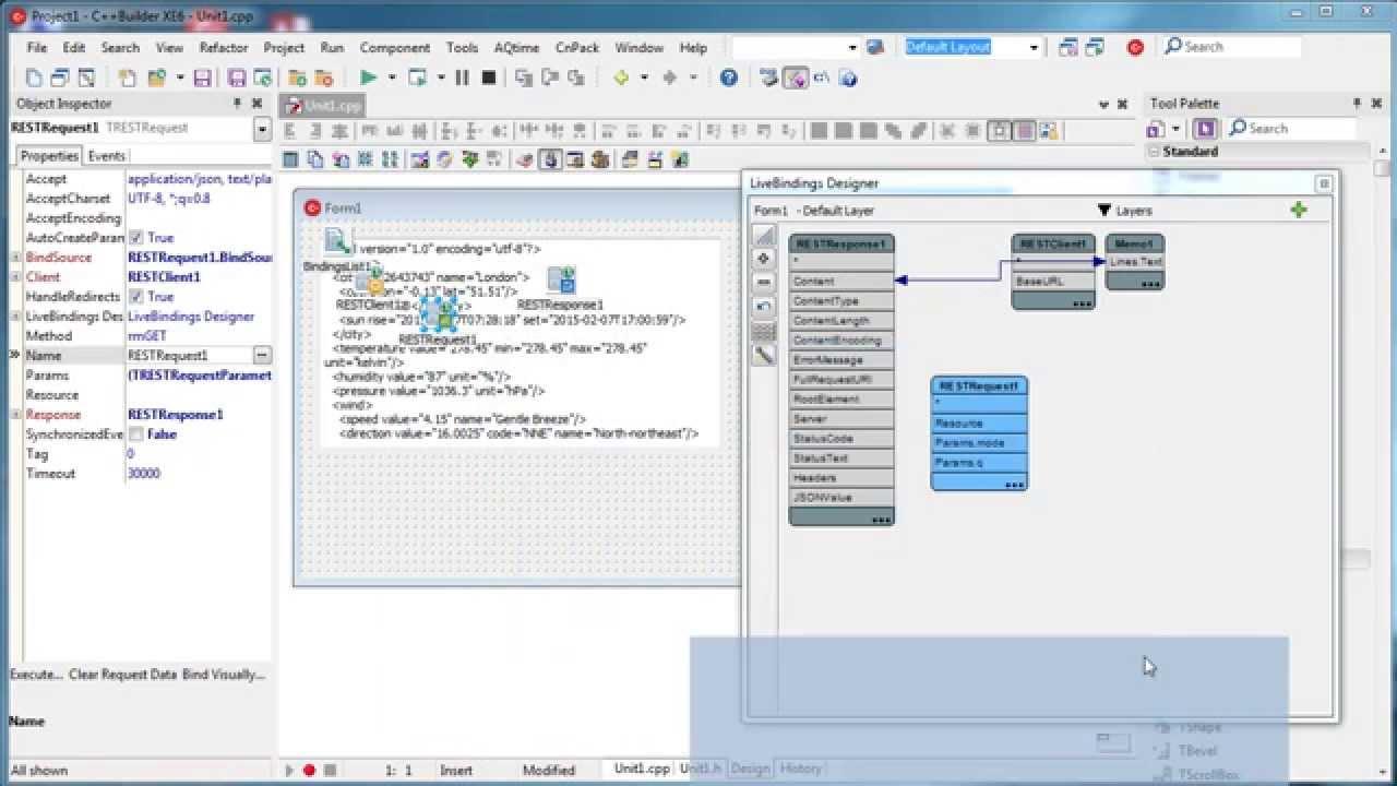 C++ Builder - Web Services (REST)