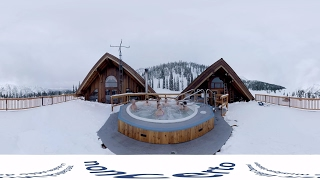 Soprano Singing in mountain hot tub! (noncerto 150.2 360: Rigden & Chiu) Classical Music Video