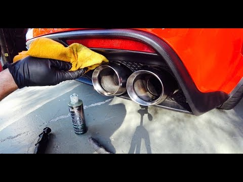 How to Polish Stainless Exhaust Tips | Auto Fanatic