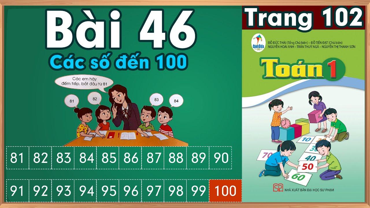 Học toán lớp 1|Toán lớp 1 sách cánh diều bài 46 |học toán  lớp 1 trực tuyến