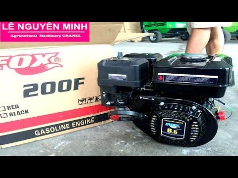 ĐÔNG CƠ XĂNG FOX 6.5HP gasoline engine 6.5hp (Clip test thử máy)