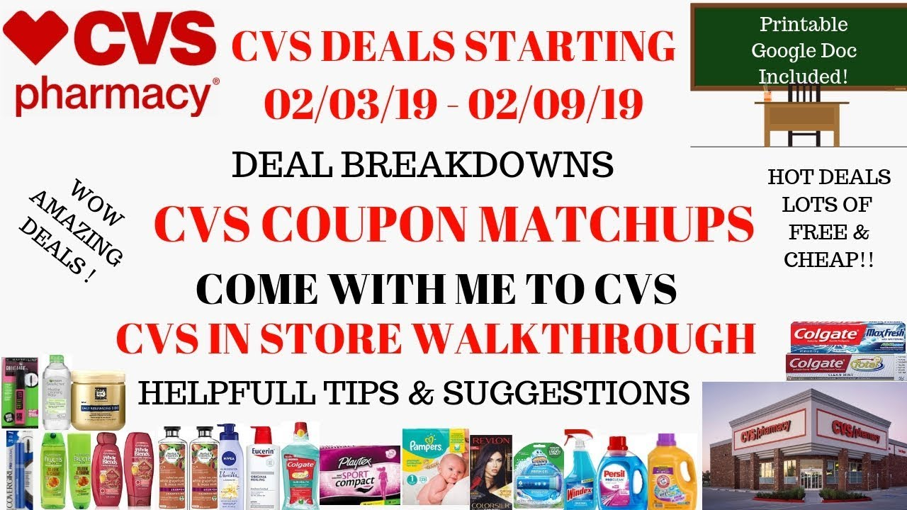 03a4ffae5c1c Lots of Deals   FREE~CVS Deals Starting 2 3 19~CVS Walkthrough Coupon  Matchups~Come with me to CVS❤️