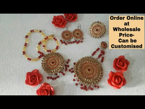 Kundan Necklace Set in Wholesale Price | Party Wear Jewellery Set | Kundan Jewellery
