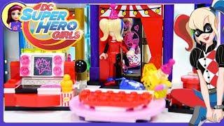 Lego DC Superhero Girls Harley Quinn Dorm Build Review Silly Play - Kids Toys