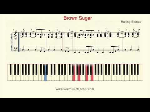 """How To Play Piano: Rolling Stones """"Brown Sugar"""" Piano Tutorial by Ramin Yousefi"""