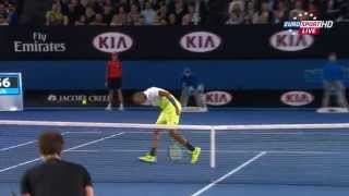 Лучшие удары 9-го игрового дня Australian Open-2015.
