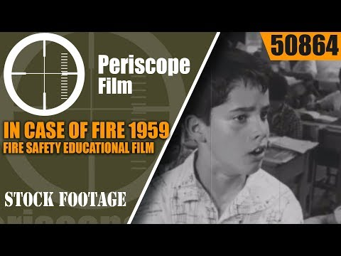 IN CASE OF FIRE  1959 FIRE SAFETY EDUCATIONAL FILM   FIRE DRILL  50864