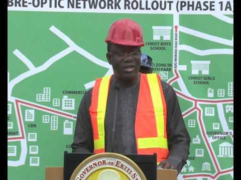 Kick Off Ceremony of the Fibre Optic Network Rollout Phase 1A), in Ado Ekiti