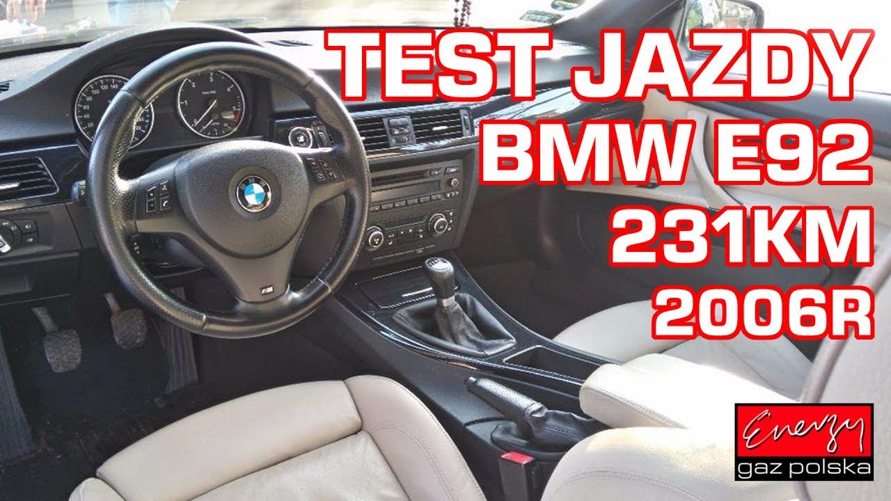 Test jazdy BMW E92 3.0 231KM w EGP na gaz BRC SQ P&D